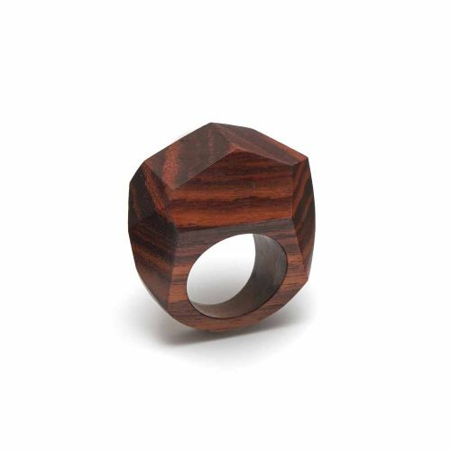 Branch Jewellery Carved Faceted Rosewood Ring